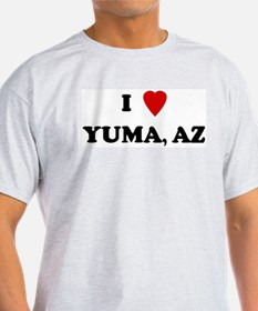 I Love Yuma Ash Grey T-Shirt