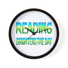 Reading Brightens Wall Clock