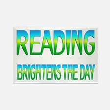 Reading Brightens Rectangle Magnet