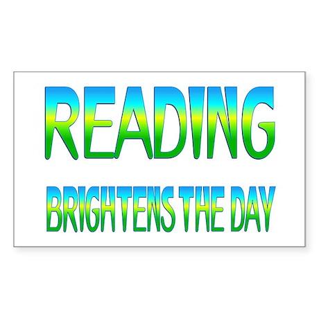 Reading Brightens Sticker (Rectangle)