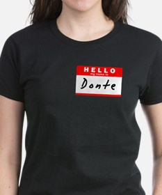 Donte, Name Tag Sticker Tee