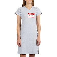Laila, Name Tag Sticker Women's Nightshirt