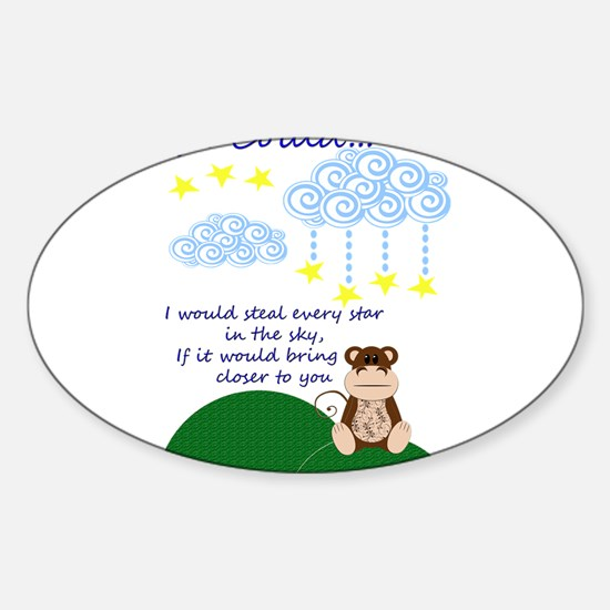 Missing You.png Sticker (Oval)
