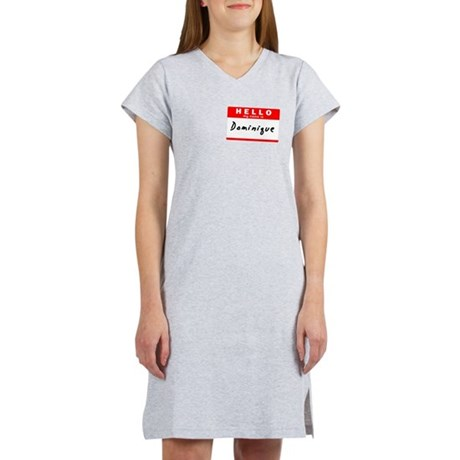 Dominique, Name Tag Sticker Women's Nightshirt