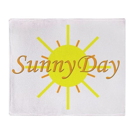 Sunny Day.png Throw Blanket