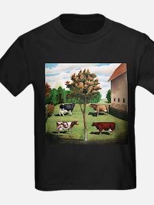 Vintage Cow Art T