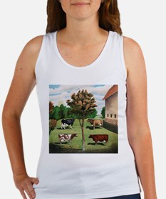 Vintage Cow Art Women's Tank Top
