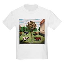Vintage Cow Art T-Shirt