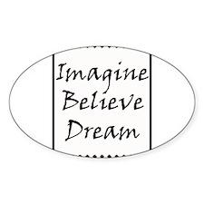 Imagine Believe Love copy.jpg Decal