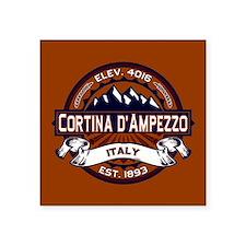 """Cortina d'Ampezzo Vibrant Square Sticker 3"""" x 3"""""""