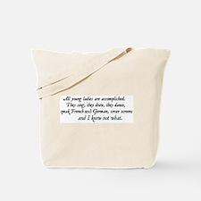 Jane Austen Accomplished Ladies 2 Tote Bag