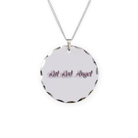 Rat Rod Angel Necklace Circle Charm