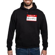 Kurtis, Name Tag Sticker Hoodie