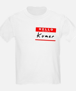 Kumar, Name Tag Sticker T-Shirt