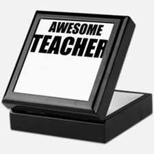 Awesome teacher Keepsake Box