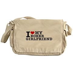 I love my Boxer Girlfriend Messenger Bag