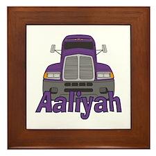 Trucker Aaliyah Framed Tile