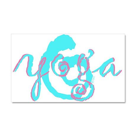 aqua pink yoga swirl Car Magnet 20 x 12
