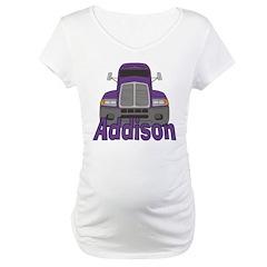 Trucker Addison Maternity T-Shirt
