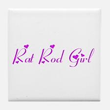 Rat Rod Girl Tile Coaster