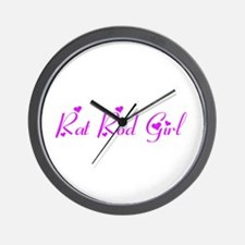 Rat Rod Girl Wall Clock