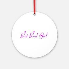 Rat Rod Girl Ornament (Round)