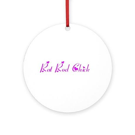 Rat Rod Chick Ornament (Round)