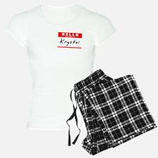 Krystal, Name Tag Sticker Pajamas
