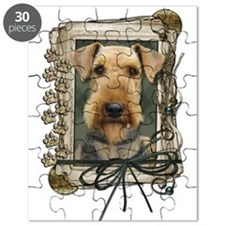 Fathers Day Stone Paws Airedale Puzzle