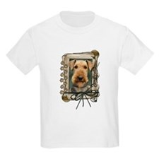 Fathers Day Stone Paws Airedale T-Shirt