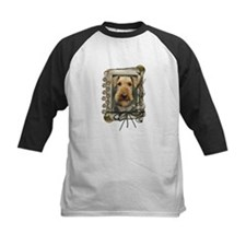 Fathers Day Stone Paws Airedale Tee