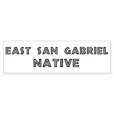 East San Gabriel Native Bumper Bumper Sticker