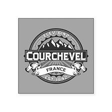 """Courchevel Grey Square Sticker 3"""" x 3"""""""