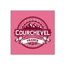 "Courchevel Honeysuckle Square Sticker 3"" x 3"""