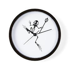 Desert Frog w Trident Wall Clock