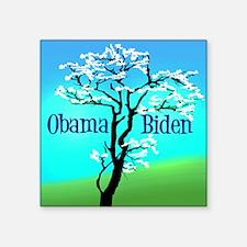 """Pretty Obama Tree Square Sticker 3"""" x 3"""""""