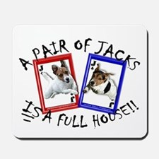 """Jack Russell Terrier """"PAIR OF JACKS"""" Mousepad"""