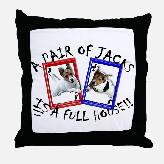 "Jack Russell Terrier ""PAIR OF JACKS"" Throw Pillow"