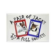 "Jack Russell Terrier ""PAIR OF JACKS"" Rectangle Mag"