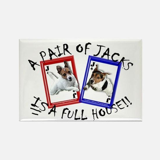 "Jack Russell Terrier ""PAIR OF JACKS"" Rectangle Mag"