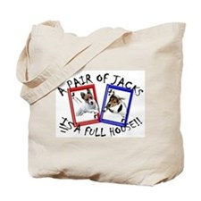 "Jack Russell Terrier ""PAIR OF JACKS"" Tote Bag"