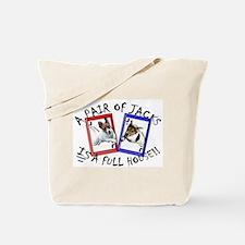 """Jack Russell Terrier """"PAIR OF JACKS"""" Tote Bag"""