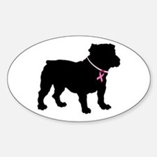 Bulldog Breast Cancer Support Decal