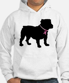 Bulldog Breast Cancer Support Hoodie