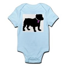 Bulldog Breast Cancer Support Infant Bodysuit