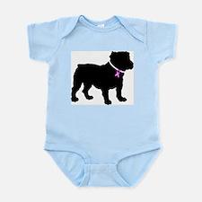Bulldog Breast Cancer Support Infant Bodysuit