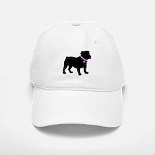Bulldog Breast Cancer Support Baseball Baseball Cap