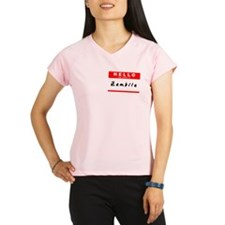 Zambila, Name Tag Sticker Performance Dry T-Shirt