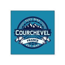 "Courchevel Ice Square Sticker 3"" x 3"""