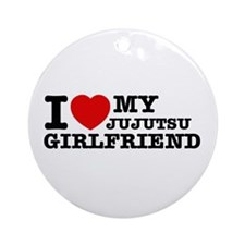 I love my Jujutsu Girlfriend Ornament (Round)